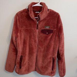 Small L.L. Bean hi-pile fleece jacket coat women's